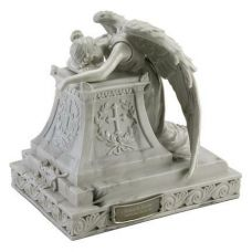 Crying Angel w/ Wings in Mourning Urn 215 Cu. In.