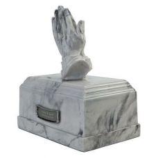 Hands in Prayer Marble Cremation Urn