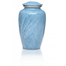 Alloy Cremation Urn in Beautiful Blue - Adult
