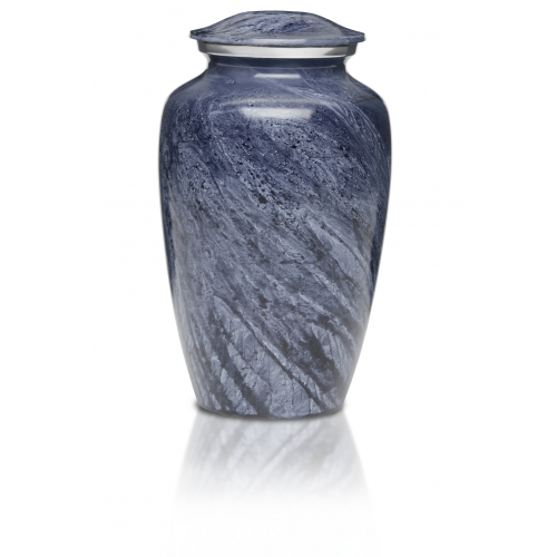 Alloy Cremation Urn in Beautiful Blue-Gray - Adult -  - A-1413-A
