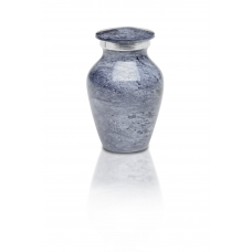 Alloy Cremation Urn in Beautiful Blue Gray - Keepsake