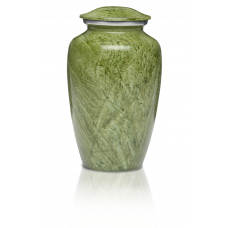 Alloy Cremation Urn in Beautiful Green - Adult