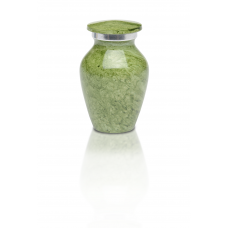 Alloy Cremation Urn in Beautiful Green - Keepsake