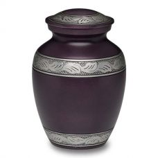 Alloy Cremation Urn in Beautiful Purple - Medium