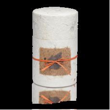 Biodegradable Peaceful Return Urn in Oval Shape - Natural White