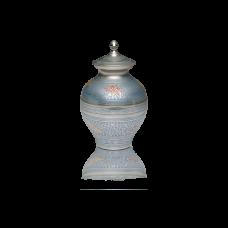 """""""Butterfly"""" Brass Cremation Urn in Baby Blue - Medium"""