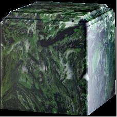 Cube Cultured Marble Adult Urn Green Ascota