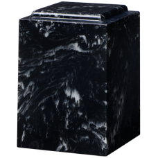 Cultured Marble Windsor Adult Urn Black Marlin