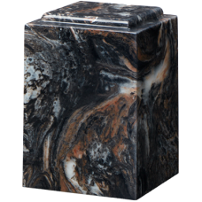 Cultured Marble Windsor Adult Urn Mission Black