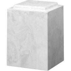 Cultured Marble Windsor Adult Urn White Carrera