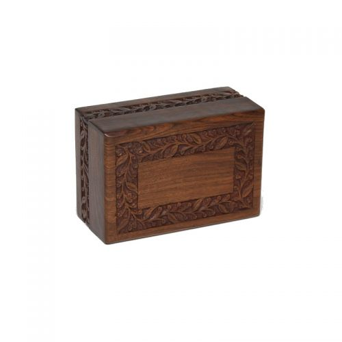 Econo Rosewood Urn w/ Hand-Carved Border-Medium Size -  - RWECONO-M