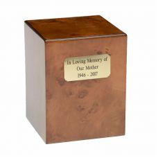 Elegant Burl and Cherry Wood Urn - A098 - 270 cu. in.
