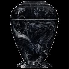 Georgian Cultured Marble Adult Urn - Black Marlin
