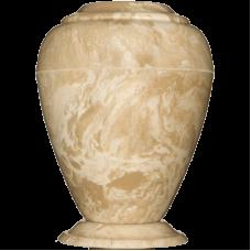 Georgian Cultured Marble Adult Urn - Creme Moca