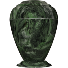 Georgian Cultured Marble Adult Urn - Green Acosta