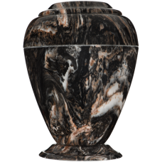 Georgian Cultured Marble Adult Urn - Mission Black