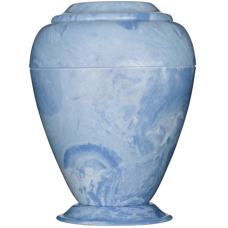 Georgian Cultured Marble Adult Urn - Wedgewood Blue