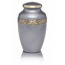 Silver-Gray Brass Cremation Urn - Adult - B-1618-A