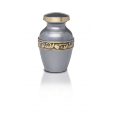 Silver-Gray Brass Cremation Urn - Keepsake