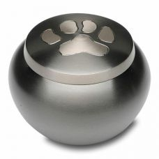Single Paw Print Pet Cremation Urn - Small