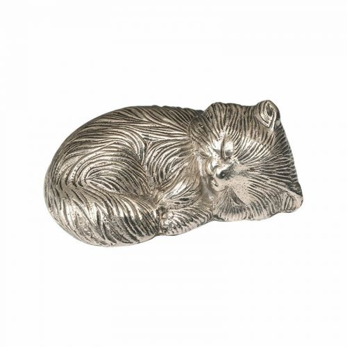Sleeping Kitty Urn - Nickel - Exclusive Item - A-1468-S -  - A-1468-S