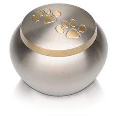 Double Paw Print Pet Cremation Urn - Small