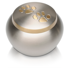Double Paw Print Pet Cremation Urn - Medium