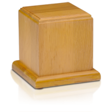 Oak Wood Cube Urn - Medium - HB-106-Oak
