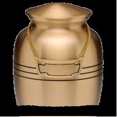 Urn Medallion - Brushed Brass