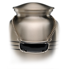 Urn Medallion - Nickel Plated Brass