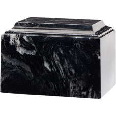 Tuscany Cultured Marble Adult Urn Black Marlin