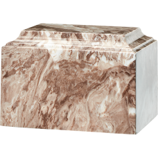 Tuscany Cultured Marble Adult Urn Cafe Brown