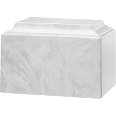 Tuscany Cultured Marble Adult Urn Carrera White