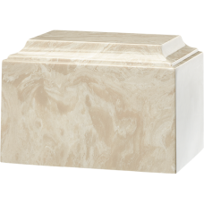 Tuscany Cultured Marble Adult Urn Cream Mocha