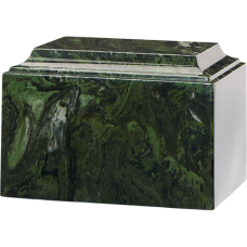 Tuscany Cultured Marble Adult Urn Green Ascota