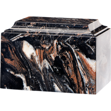 Tuscany Cultured Marble Adult Urn Mission Black