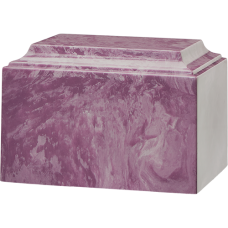 Tuscany Cultured Marble Adult Urn Purple