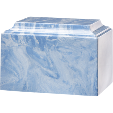 Tuscany Cultured Marble Adult Urn Wedgewood Blue