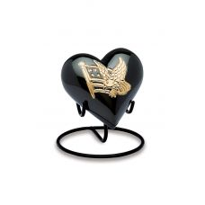 American Pride Black & Gold - Keepsake Hearts