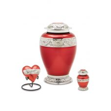 Berkshire Silver & Red - Cremation Urn