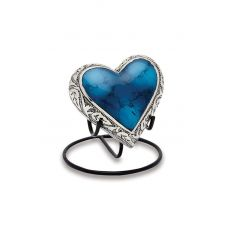 Grecian Blue - Keepsake Heart