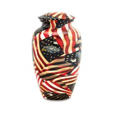 Vintage Glory - Adult - Hydro-Painted Cremation Urn 210 Cu. In.
