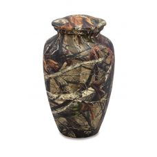 Woodland Camo - Adult - Hydro-Painted Cremation Urn 210 Cu. In.