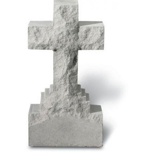15in Cross On Base All Weatherproof Cast Stone - 707509261207 - 26120