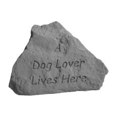 A Dog Lover... All Weatherproof Cast Stone
