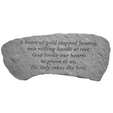 A Heart Of Gold... Cast Stone All Weatherproof Cast Stone Memorial