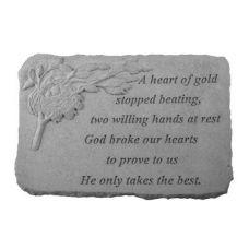 A Heart Of Gold... w/Birds Nest All Weatherproof Cast Stone