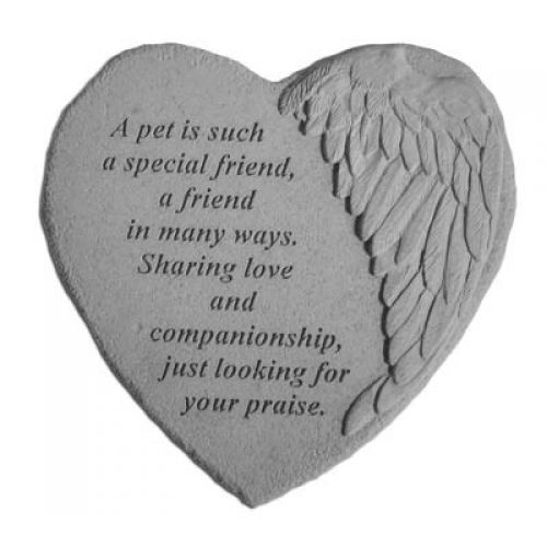 A Pet Is Such... All Weatherproof Cast Stone Memorial - 707509089146 - 08914