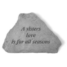 A Sisters Love All Weatherproof Cast Stone