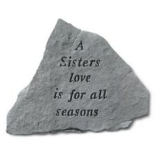 A Sisters Love Is For All Seasons All Weatherproof Cast Stone